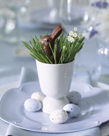 decoração páscoa ovos coelho chocolate