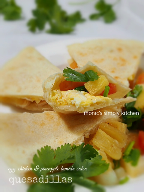 resep egg chicken quesadillas