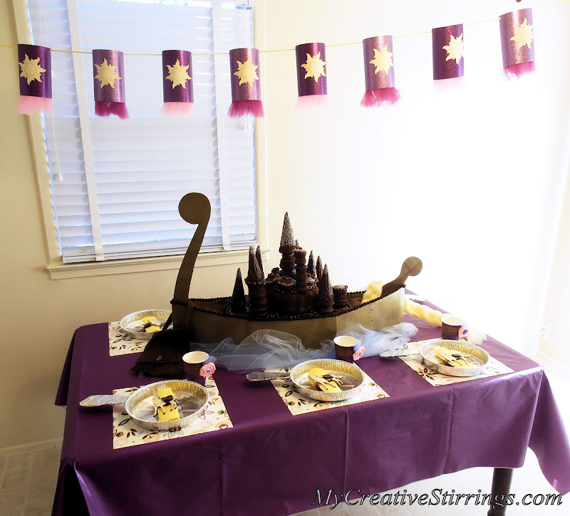 My Creative Stirrings Tangled Birthday Party Rapunzel