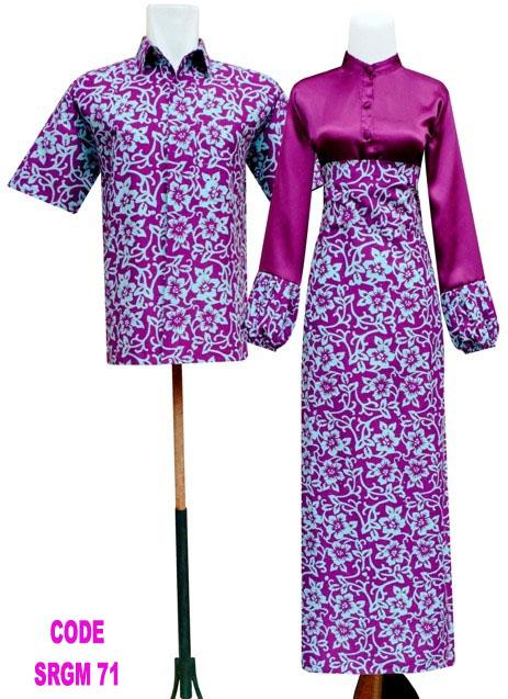 menghadirkan 4 macam warna pilihan untuk gamis batik terbaru dengan