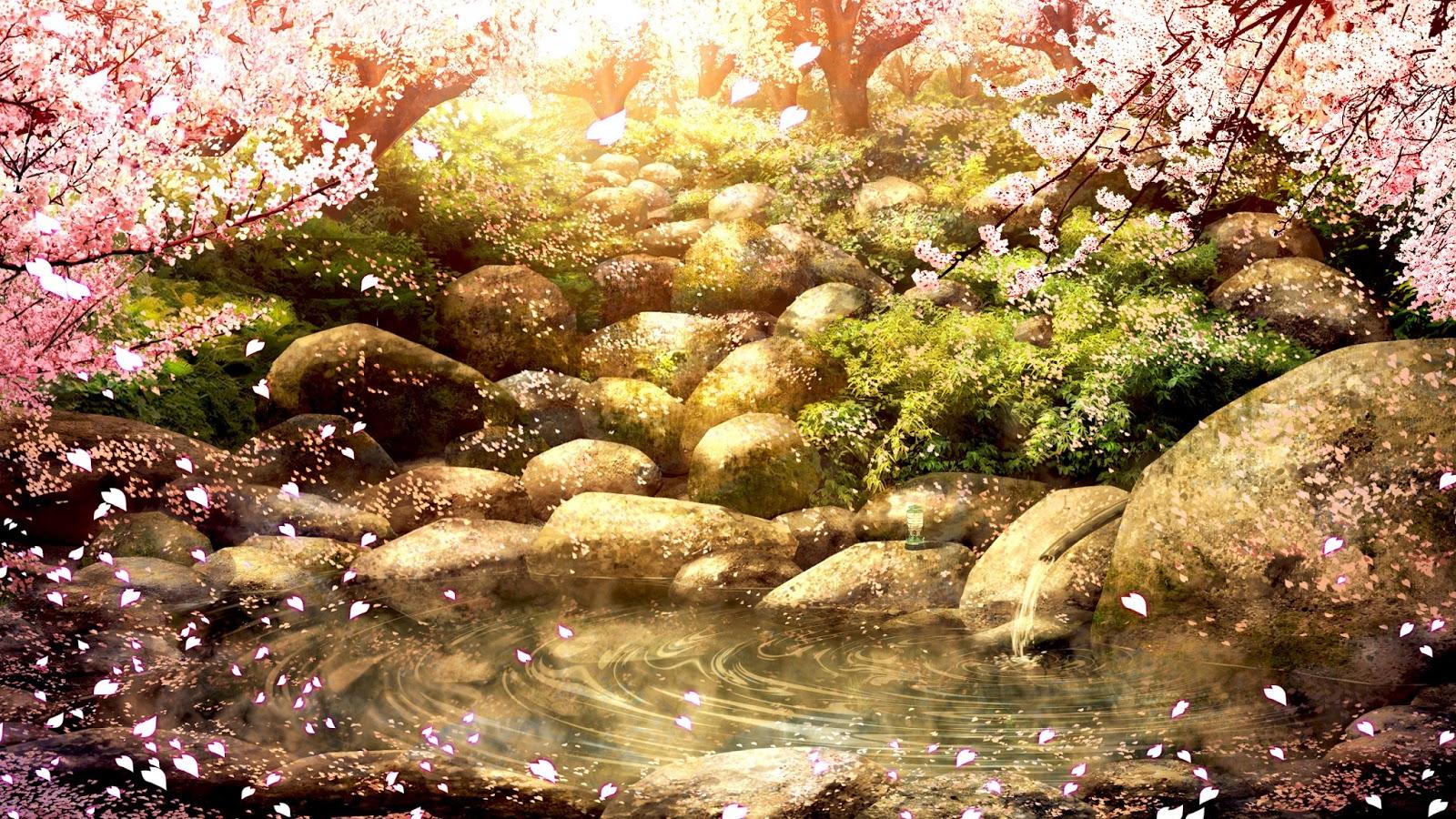 River anime background for Find a landscaper