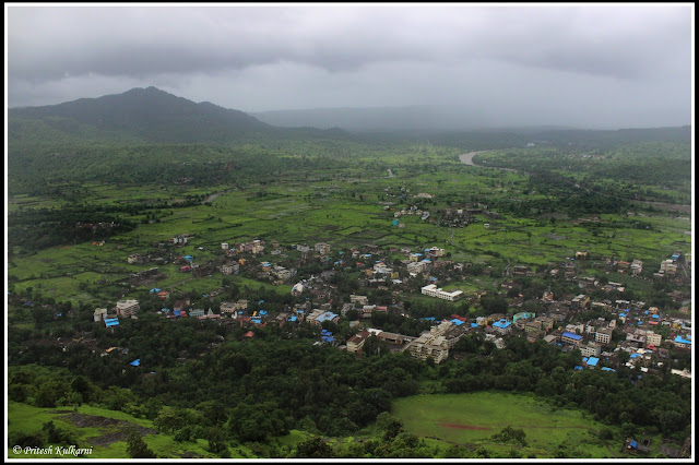 Pali village view from Sarasgad Fort