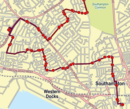 Southampton city bus map