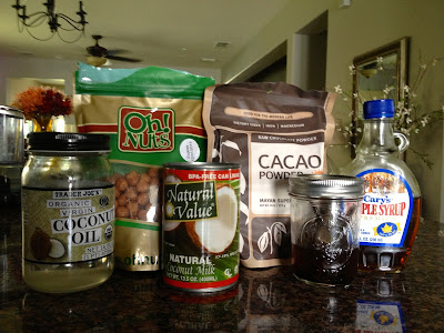Ingredients for Hazelnut spread