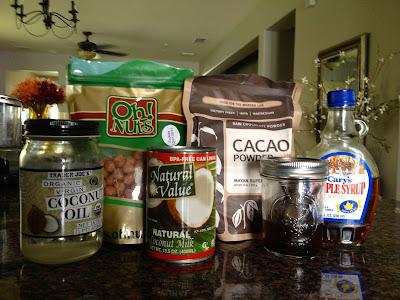 Ingredients for Hazelnut spread