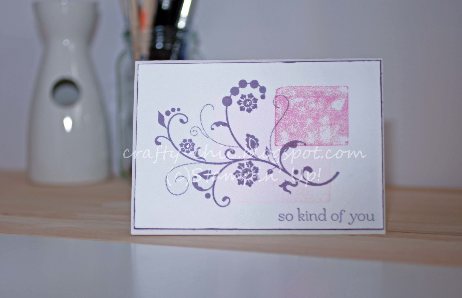 A card made with the stampin' Up! Flowering Flourishes stamp set