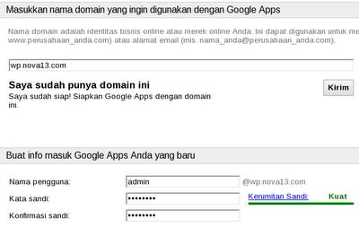 mengisi domain pada Google Apps