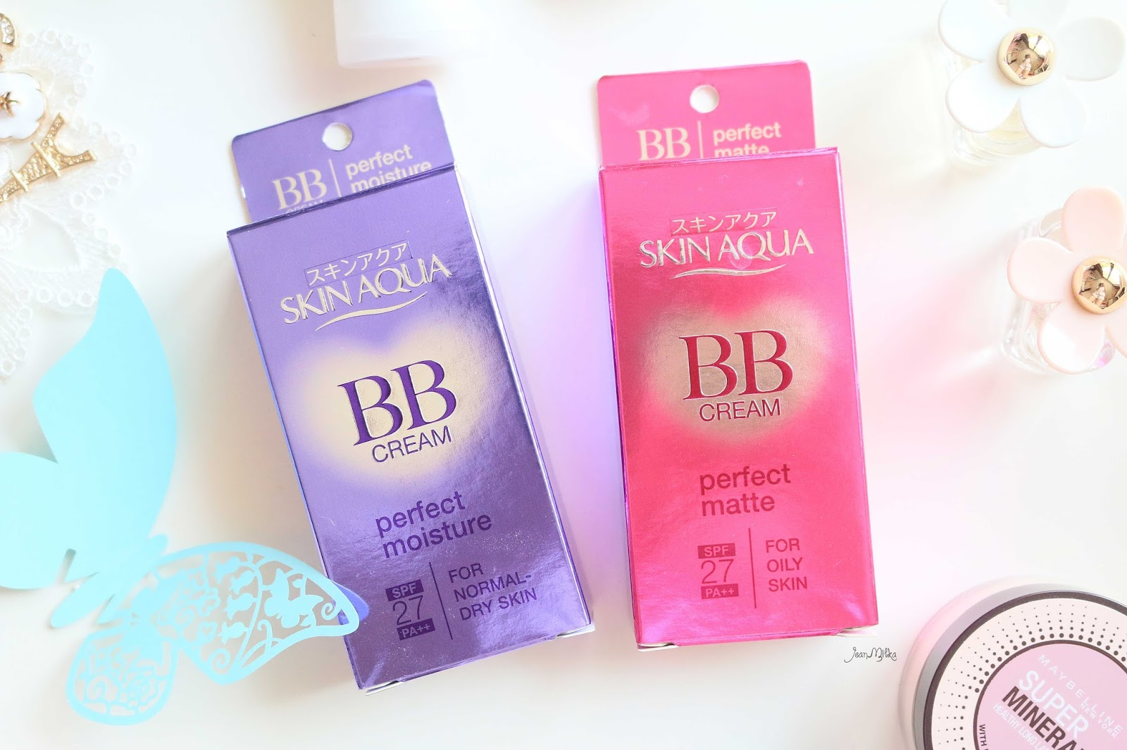 skin aqua, bb cream, makeup, review, japan, everyday, perfect matte, perfect mooisture