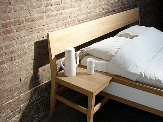 Diseño original de cama-mesa para el dormitorio
