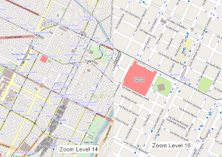 Comparazione livelli di zoom 14 e 16
