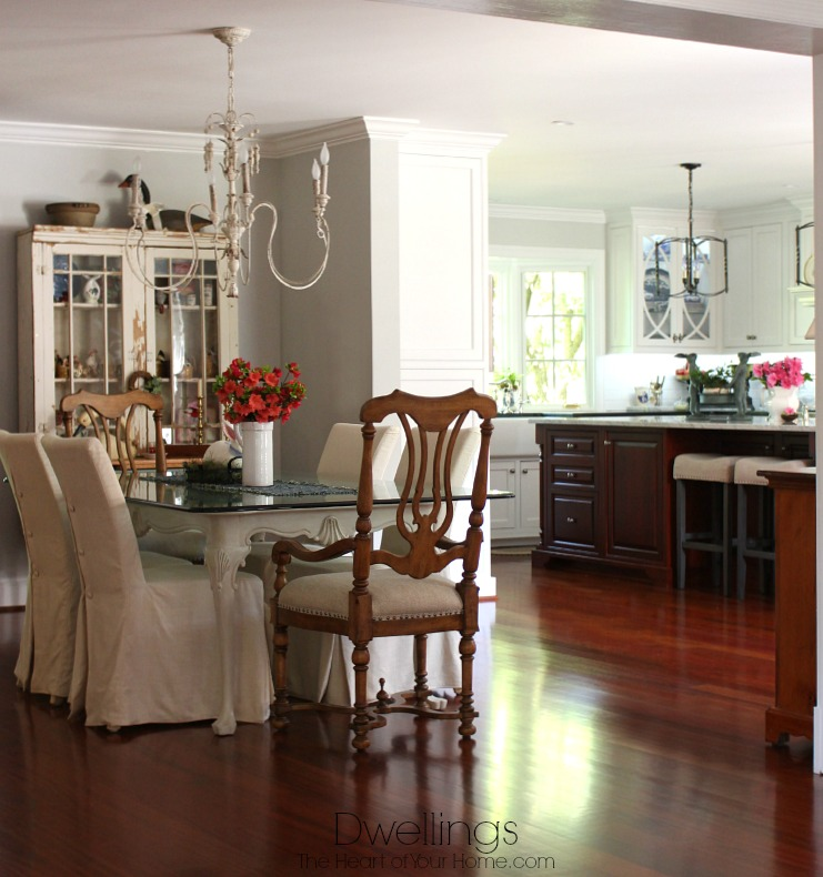 azalea centerpieces in the keeping room