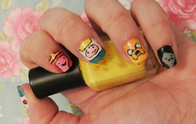 adventure time nail art sunday nails