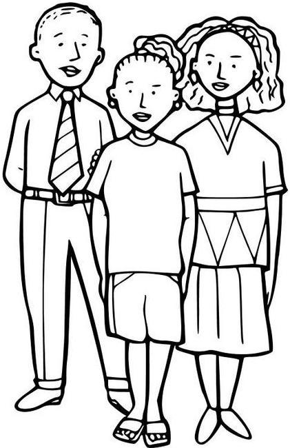 DIBUJOS PARA COLOREAR PINTAR: DIBUJOS DE LA FAMILIA PARA COLOREAR ...