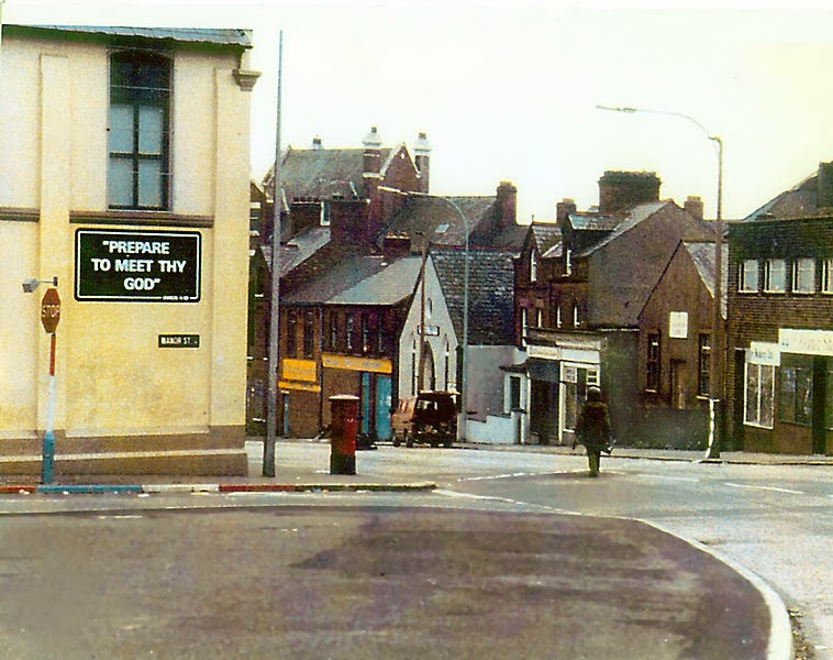 A soldier making the long walk to defuse a car bomb in Northern Ireland.