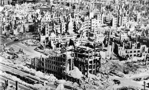 dresden after the bombing of course the reason everything in dresden ...
