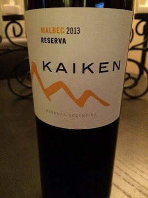 Kaiken Malbec 2013 Reserva Wine