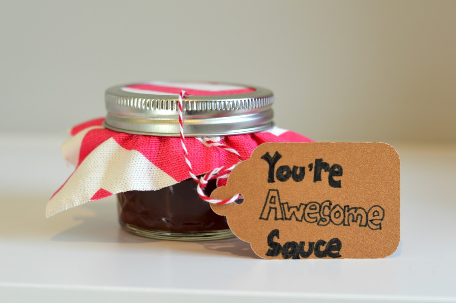 You're Awesome Sauce Homemade BBQ Sauce for Valentine's Day| all dressed up with nothing to drink...