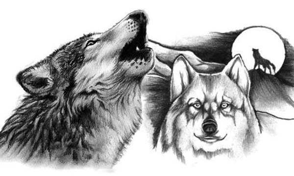 Татуировки волка для мужчин 18