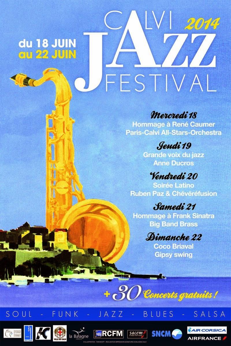Affiche du Calvi Jazz Festival 2014