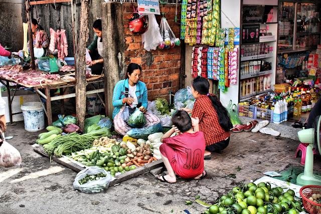 Légumes généralement livrés depuis le marché de gros