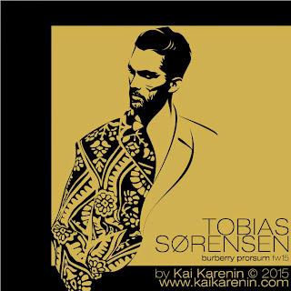 Tobias Sorensen fashion illustration by Kai Karenin