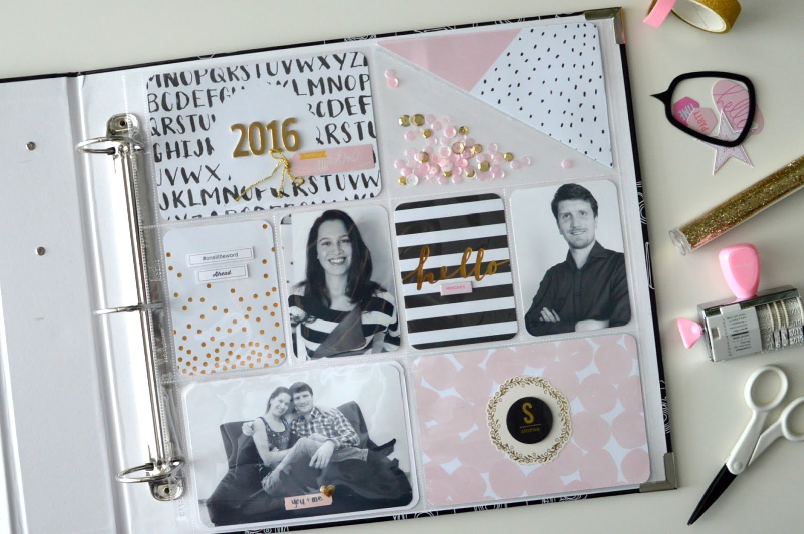 Scrapbook ideas about life - Project Life Title Page 2016