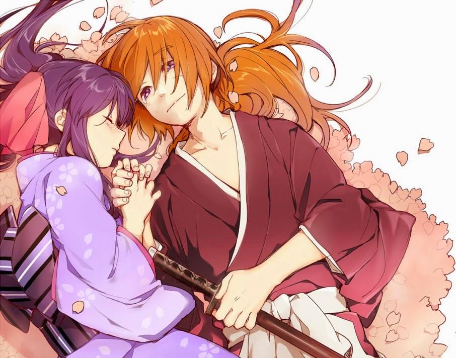 Samurai x,anime wallpaper,anime couples