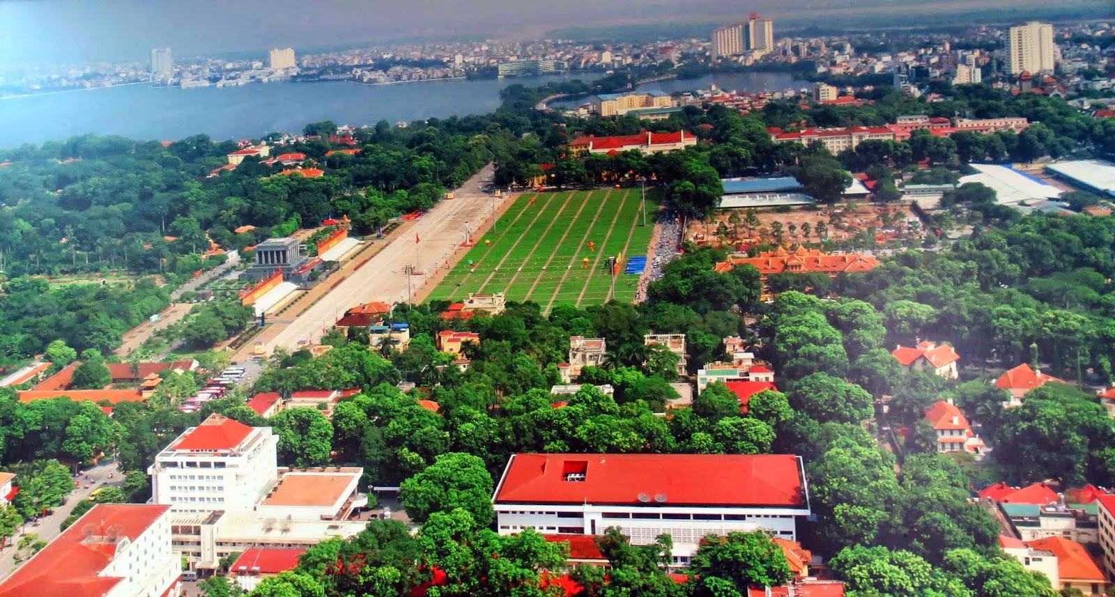 Ba Dinh, Ba Đình, lăng Bác, Lăng Chủ tịch Hồ Chí Minh, Văn phòng Trung ương Đảng, Văn phòng Chủ tịch nước, Phủ Chủ tịch, Văn phòng Chính phủ