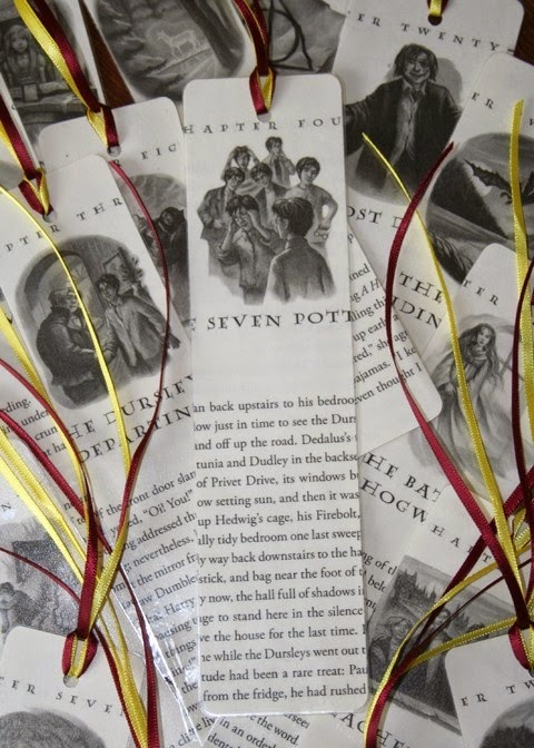 upcycled books to DIY bookmarks