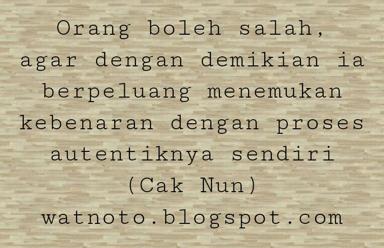 Gambar Watnoto Dp Keren Kata Bijak Cak Emha Ainun Najib Gambar di ...