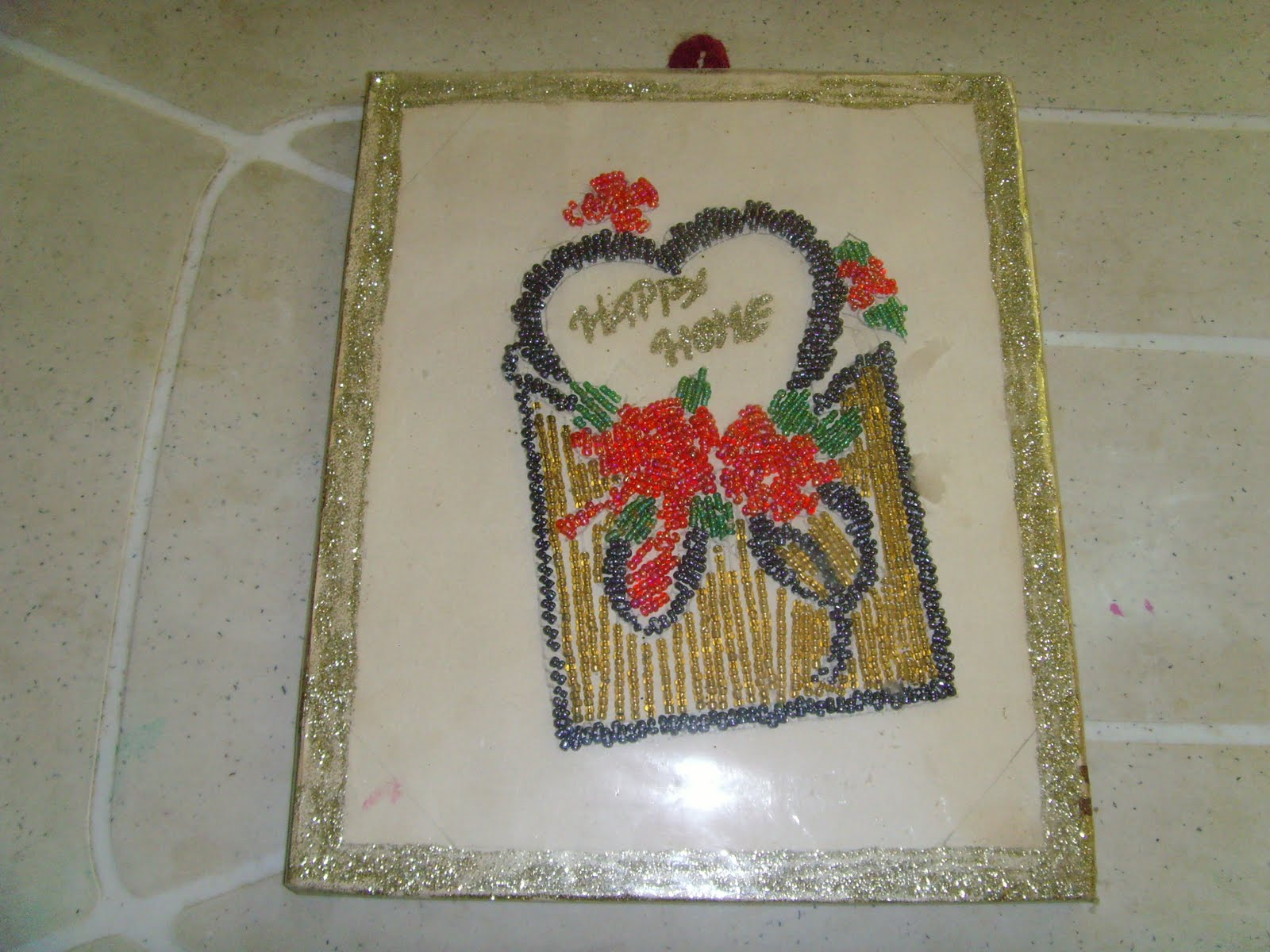 craft works: beads work(wall hanging)
