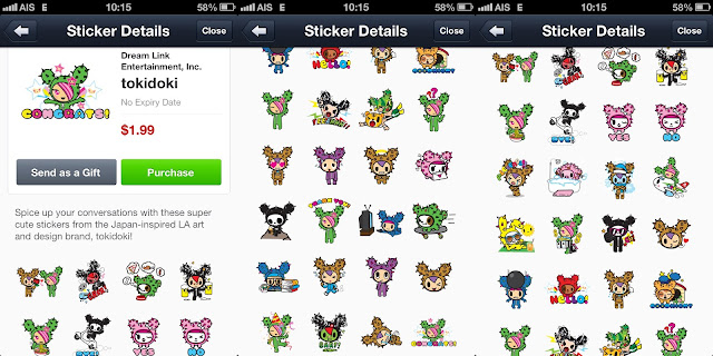 Tokidoki line stickers