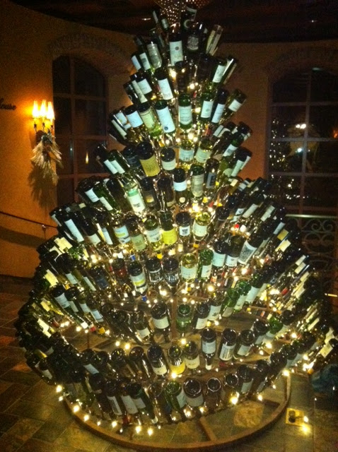 Classic with a twist wine bottle holiday decor for How to make a wine tree