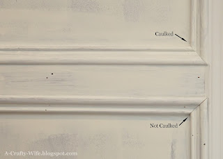 caulked judges panelling vs no caulk in judges paneling | A Crafty Wife
