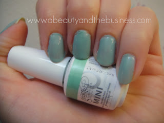 gelish sea foam swatch, gelish sea foam, gelish