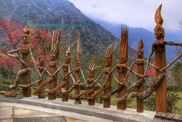 Sculptures, Leader Village, Taroko National Park, Taiwan