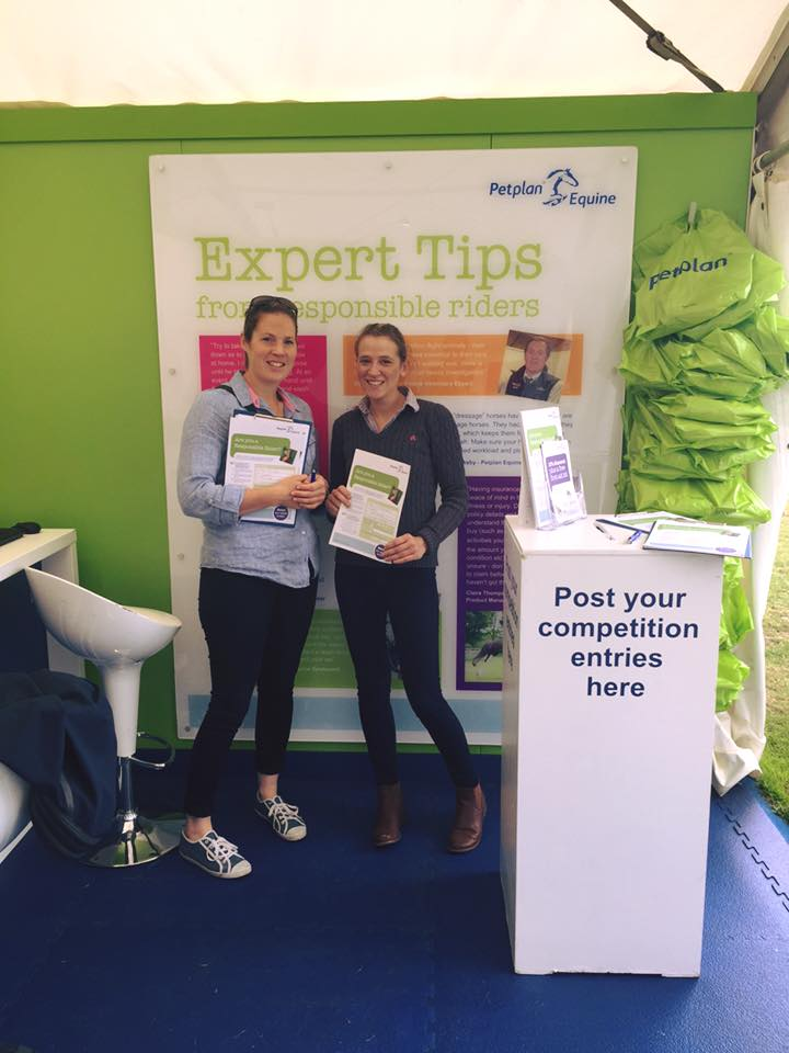 Trade Stands Hickstead : All shopped out at hickstead thanks to petplan equine sian lovatt