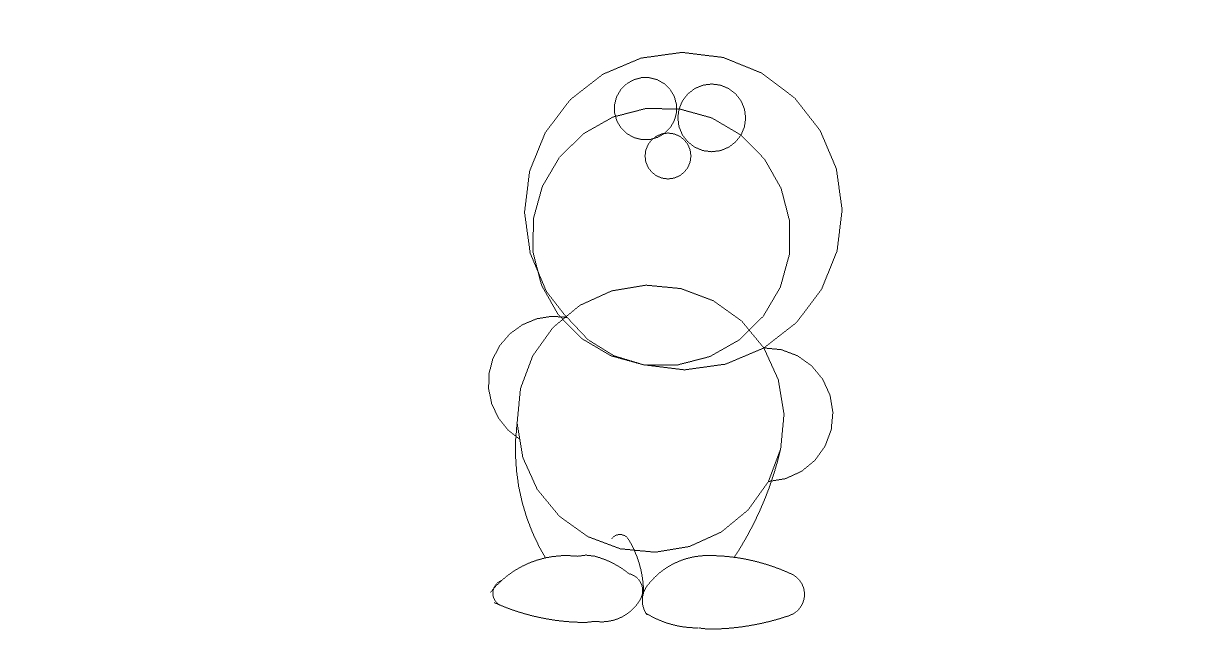 Belajar Menggambar Menggambar Doraemon