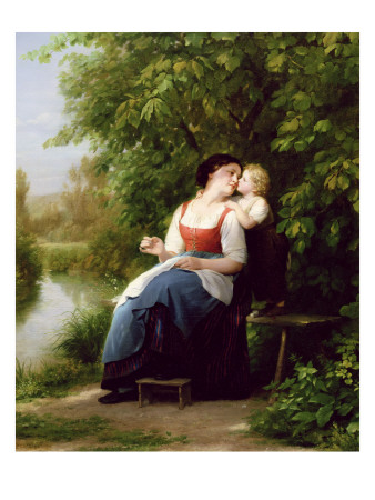 """Mother and Son"" by Fritz Zuber-Buhler"