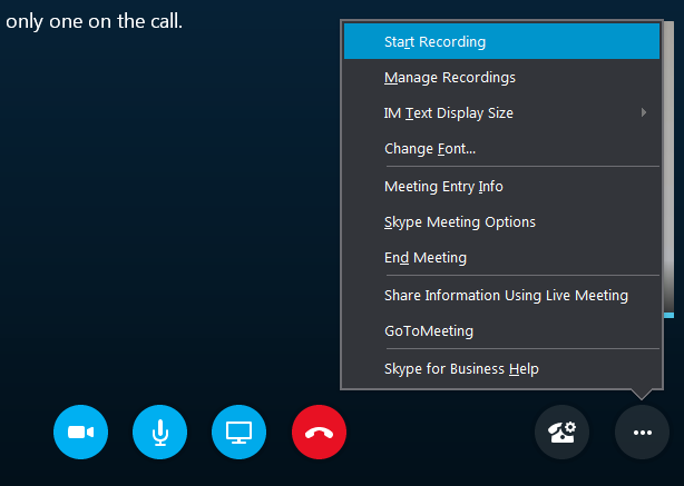 Record Skype For Business Lync Meeting User Guide