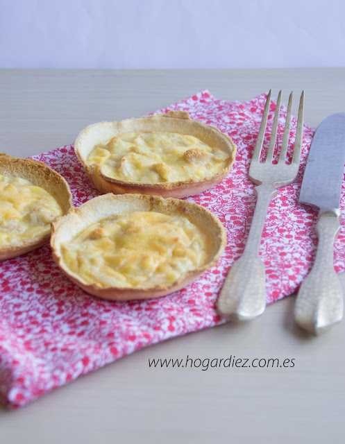 Mini quiches con pan de molde