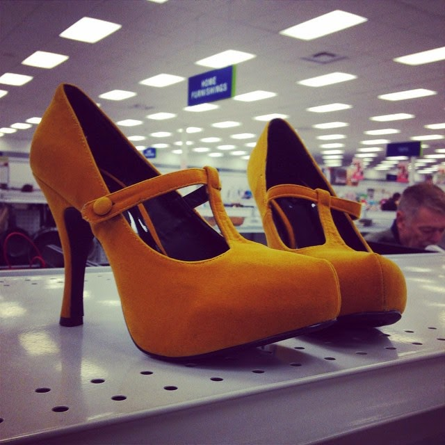 #thriftscorethursday Week 49 | Instagram user: brit3389 shows off this Yellow T Strap Pumps