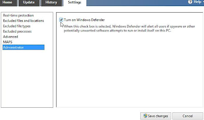 Setting Konfigurasi Windows Defender di Windows 8 step 5