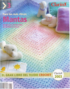 Revista Mantas em crochet bebê