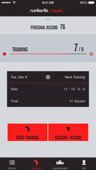 아이폰/아이패드 Runtastic Squats PRO – Workouts + Trainer 무료