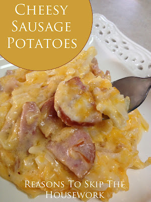 cheese, sausage, potatoes, one pot meal, recipe, breakfast