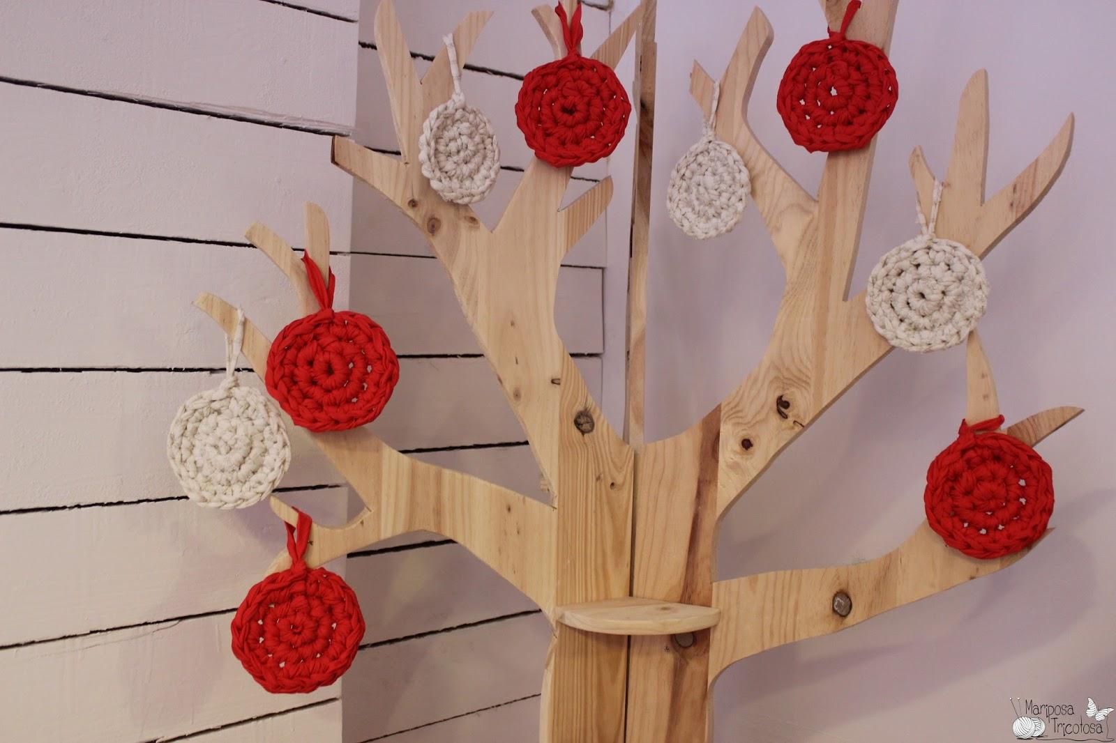 Mariposa tricotosa taller infantil teje en xl con for Adornos arbol navidad online