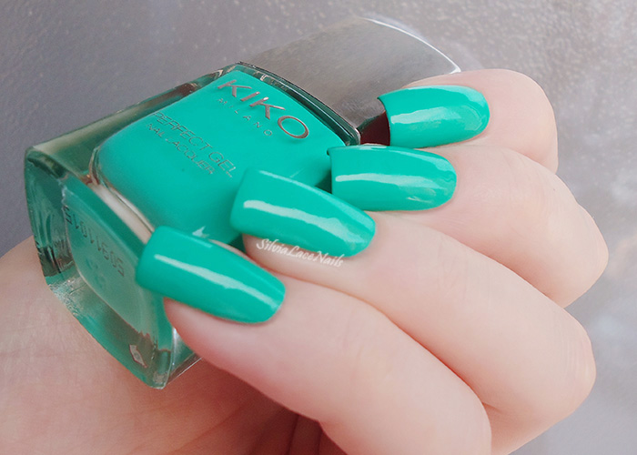 Silvia Lace Nails: KIKO Perfect Gel Duo 678 Spring Green: swatches ...