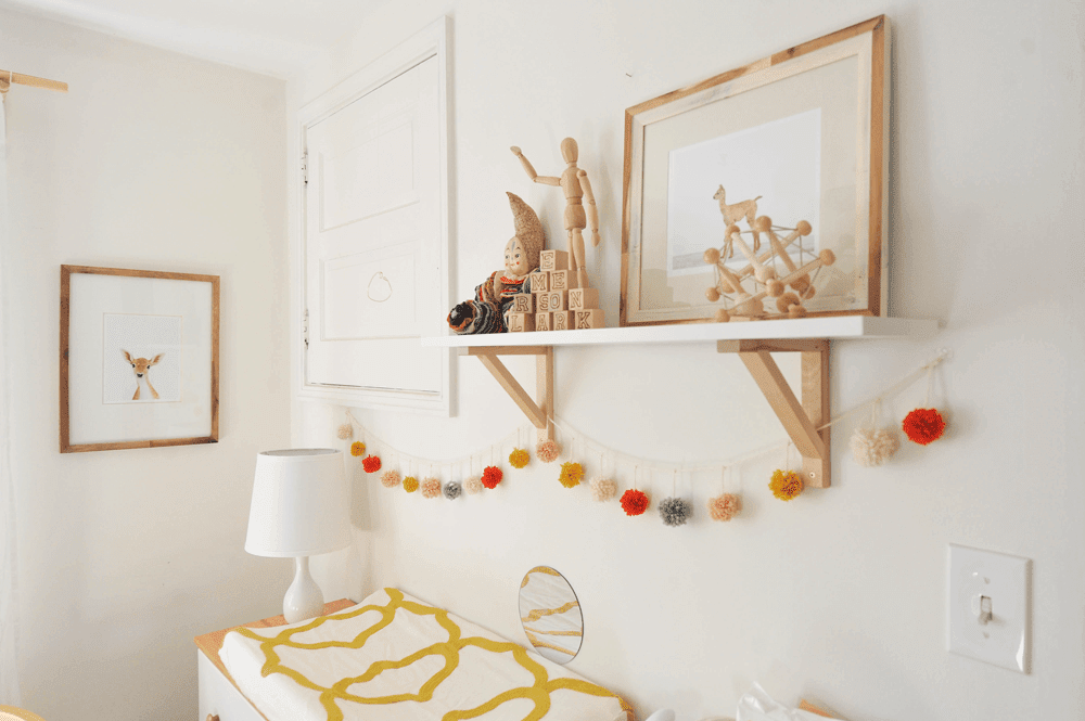 DIY Pom Pom Garland Nursery Warm Modern