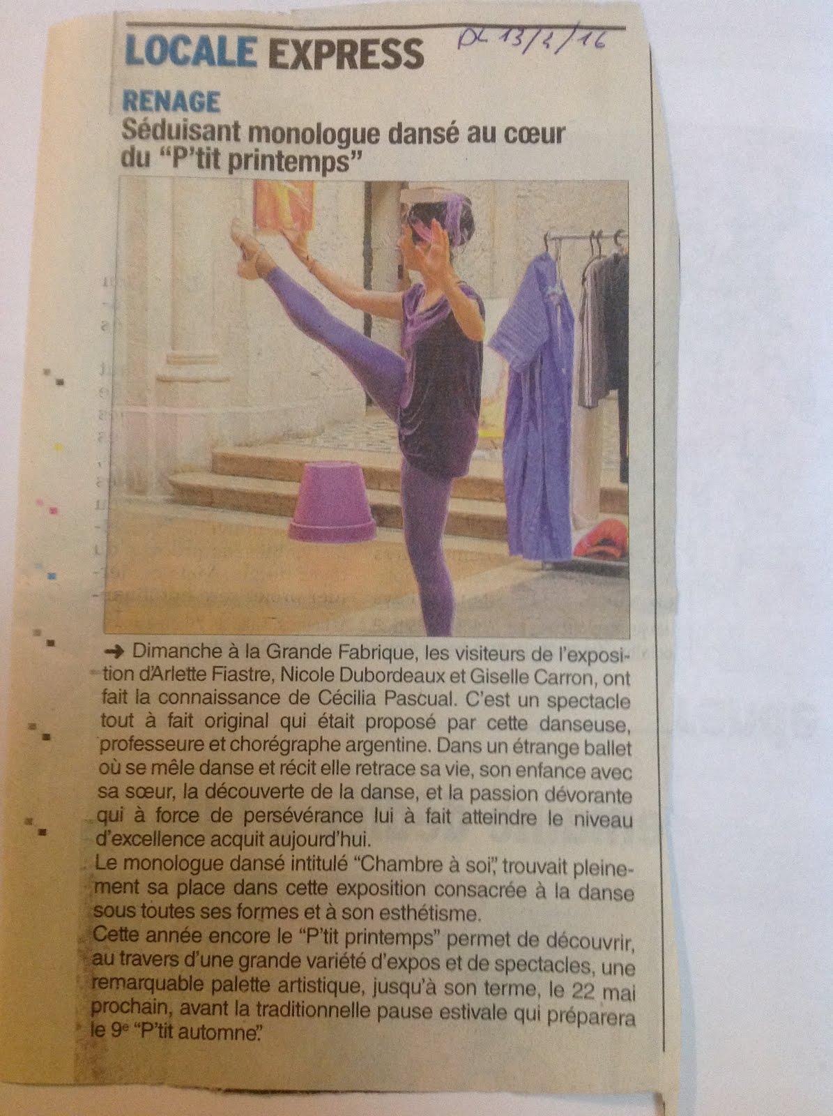 Presse: Dauphiné Libéré du 13 Avril 2016